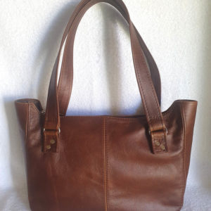 J&E handbag double strap brown