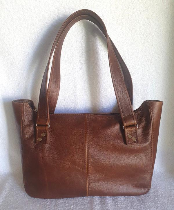 J&E handbag double strap brown
